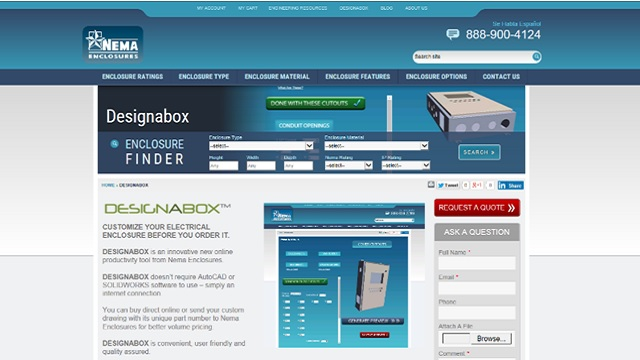 The DESIGNABOX® online ecommerce landing page.