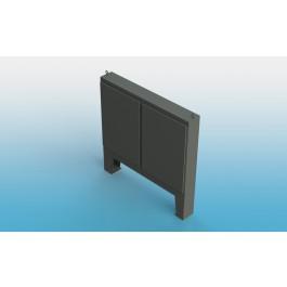 Floor Mount Two Door Type 4 w/ Back Panel 74 X 72 X 12