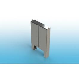 Free Standing Two Door Type 4 w/Back Panel 62 X 60 X 16