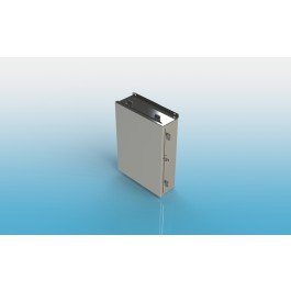 Junction Box Type 4X Hinged Cover with Clamps, w/ Back Panel 12x10x6