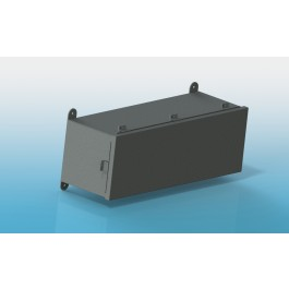 Wiring Trough Type 4 Hinged Cover with Clamps, 12 X 12 X 60