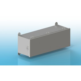 Wiring Trough Type 4X Hinged Cover with Clamps, 12 X 12 X 48