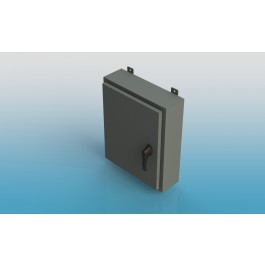 Wall-Mount Type 4 Enclosure,W/Back Panel and 3 Point Latch16x12x8