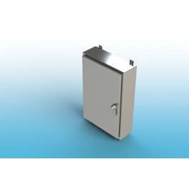 Wall-Mount Type 4X Enclosure,W/Back Panel and 3 Point Latch16x12x8