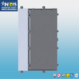 Wall Mount ATEX & IECEx Ex e Certified Enclosure, W/ Back Panel 16 x 12 x 8