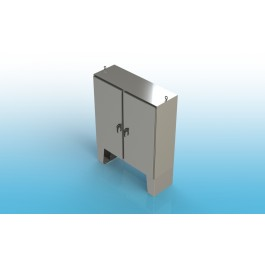 Free Standing w/Leg Kit Two Door Type 4 w/Back Panel 74 X 72 X 12