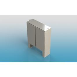 Free Standing w/Leg Kit Two Door Type 4X w/Back Panel 74 X 72 X 12