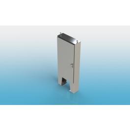 Free Standing w/Leg Kit Single Door Type 4X w/Back Panel 72 X 42 X 10