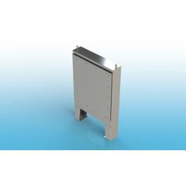 Free Standing w/Leg Kit Single Door Type 4X w/Back Panel 48 X 36 X 12